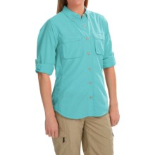 ExOfficio Super Air Strip Shirt - Long Sleeve (For Women) in Light Azure - Closeouts