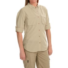 ExOfficio Super Air Strip Shirt - Long Sleeve (For Women) in Sand - Closeouts