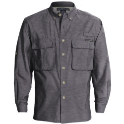 ExOfficio Super Air Strip Shirt - UPF 30+, Long Sleeve (For Men) in Captain Blue