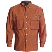 ExOfficio Super Air Strip Shirt - UPF 30+, Long Sleeve (For Men) in Cedar - Closeouts