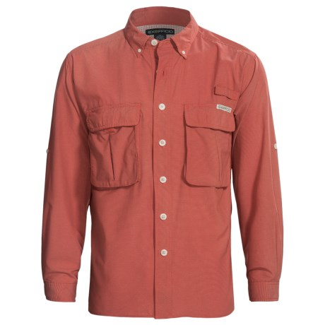 ExOfficio Super Air Strip Shirt - UPF 30+, Long Sleeve (For Men) in Cedar