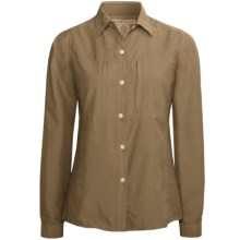 ExOfficio Super Dryflylite Shirt - UPF 30+, Long Sleeve (For Women) in Dark Khaki - Closeouts