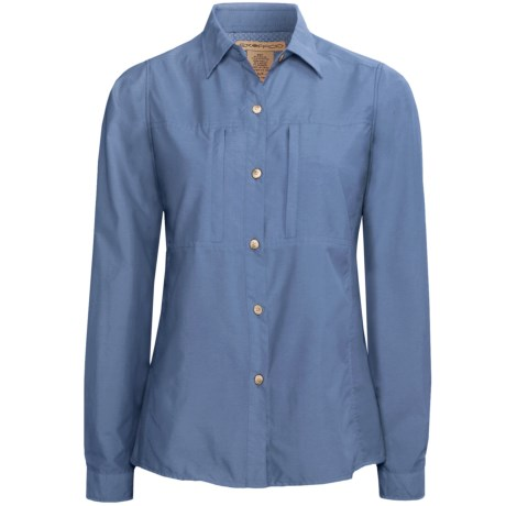 ExOfficio Super Dryflylite Shirt - UPF 30+, Long Sleeve (For Women) in French Blue