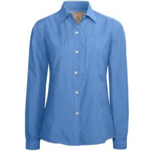ExOfficio Super Dryflylite Shirt - UPF 30+, Long Sleeve (For Women) in Mediterranian - Closeouts