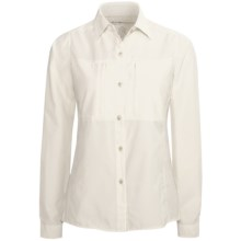 ExOfficio Super Dryflylite Shirt - UPF 30+, Long Sleeve (For Women) in White - Closeouts
