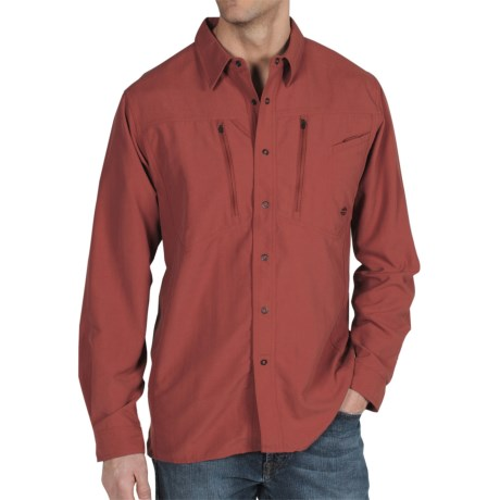 ExOfficio TakeOver Trek'r Shirt - Long Sleeve (For Men) in Brick