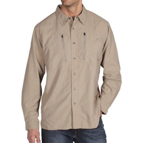 ExOfficio TakeOver Trek'r Shirt - Long Sleeve (For Men) in Light Khaki