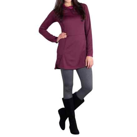 ExOfficio Tatra Hooded Dress - UPF 30, Long Sleeve (For Women) in Brandy - Closeouts
