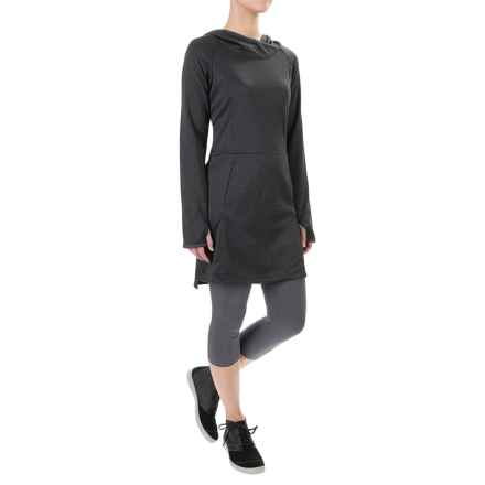 ExOfficio Tatra Hooded Dress - UPF 30, Long Sleeve (For Women) in Carbon - Closeouts