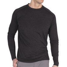 ExOfficio Teanaway Crew Shirt - Long Sleeve (For Men) in Black - Closeouts