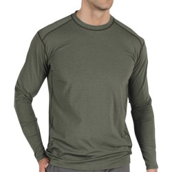 ExOfficio Teanaway Crew Shirt - Long Sleeve (For Men) in Brick
