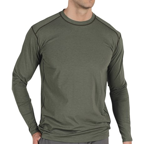 ExOfficio Teanaway Crew Shirt - Long Sleeve (For Men) in Brick