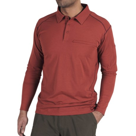 ExOfficio Teanaway Polo Shirt - Long Sleeve (For Men) in Brick