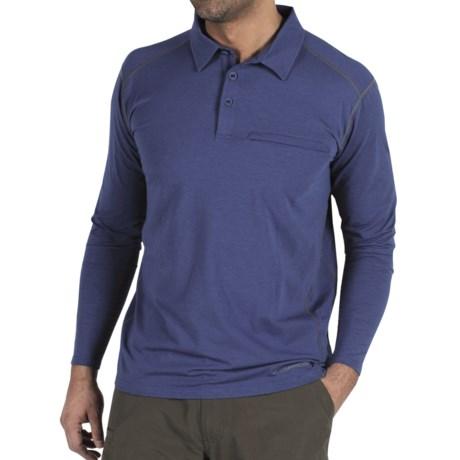 ExOfficio Teanaway Polo Shirt - Long Sleeve (For Men) in Ensign