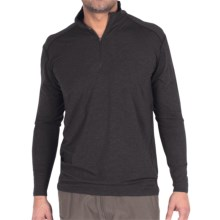 ExOfficio Teanaway Shirt - Zip Neck, Long Sleeve (For Men) in Black - Closeouts