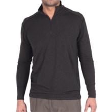 ExOfficio Teanaway Shirt - Zip Neck, Long Sleeve (For Men) in Black - Closeouts