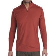 ExOfficio Teanaway Shirt - Zip Neck, Long Sleeve (For Men) in Brick - Closeouts