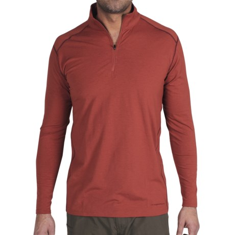 ExOfficio Teanaway Shirt - Zip Neck, Long Sleeve (For Men) in Black