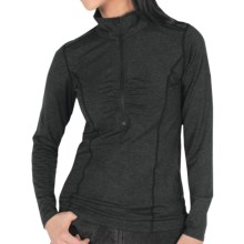 ExOfficio Teanaway Shirt - Zip Neck, Long Sleeve (For Women) in Black - Closeouts
