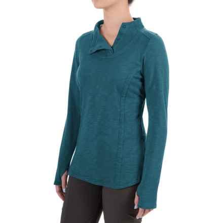 ExOfficio Techspressa Snap Shirt - Long Sleeve (For Women) in Marina - Closeouts