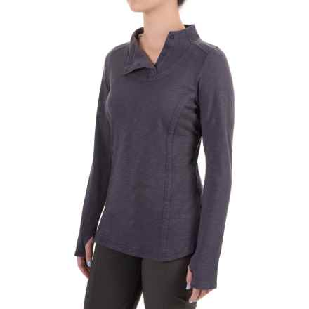 ExOfficio Techspressa Snap Shirt - Long Sleeve (For Women) in Meteor - Closeouts