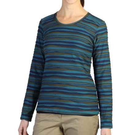 ExOfficio Techspressa Stripe Shirt - UPF 15+, Long Sleeve (For Women) in Navy - Closeouts