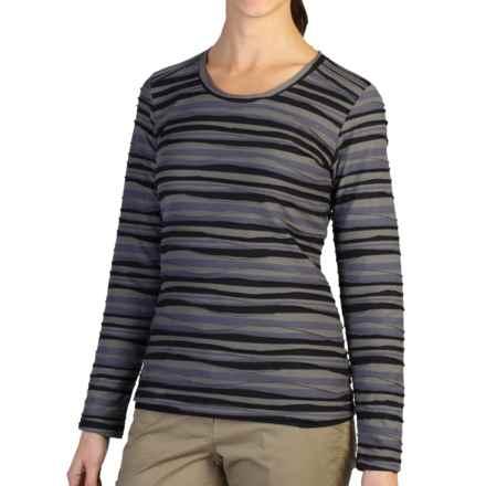 ExOfficio Techspressa Stripe Shirt - UPF 15+, Long Sleeve (For Women) in Slate - Closeouts
