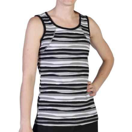 ExOfficio Techspressa Stripe Tank Top - UPF 50+ (For Women) in Black - Closeouts