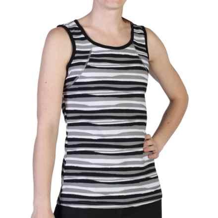 ExOfficio Techspressa Stripe Tank Top - UPF 50+ (For Women) in Black - Closeouts