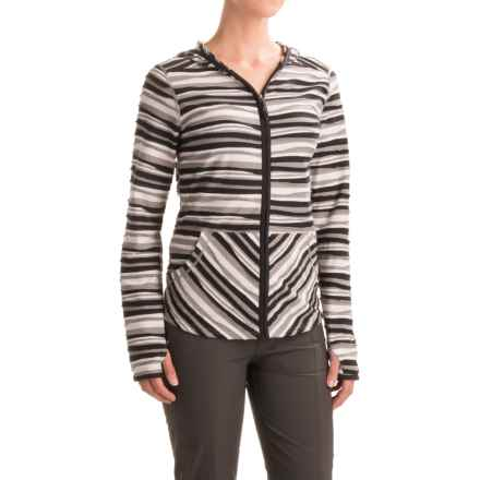 ExOfficio Techspressa Striped Hooded Shirt - UPF 15+, Long Sleeve (For Women) in Black - Closeouts