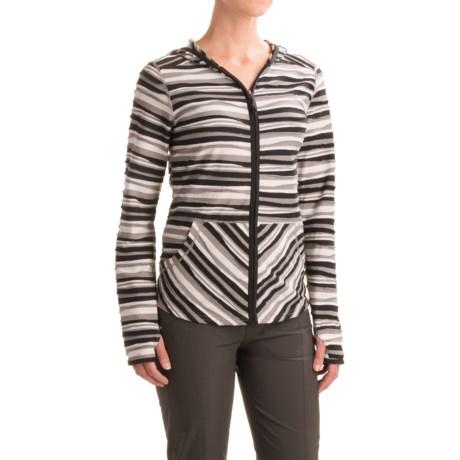 ExOfficio Techspressa Striped Hooded Shirt - UPF 15+, Long Sleeve (For Women) in Black