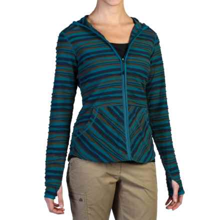 ExOfficio Techspressa Striped Hooded Shirt - UPF 15+, Long Sleeve (For Women) in Navy - Closeouts