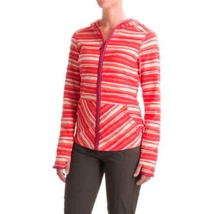 ExOfficio Techspressa Striped Hooded Shirt - UPF 15+, Long Sleeve (For Women) in Nectar - Closeouts