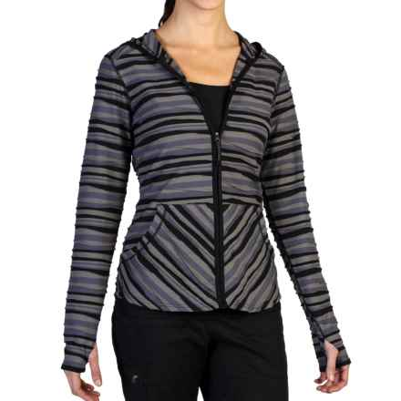 ExOfficio Techspressa Striped Hooded Shirt - UPF 15+, Long Sleeve (For Women) in Slate - Closeouts
