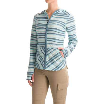 ExOfficio Techspressa Striped Hooded Shirt - UPF 15+, Long Sleeve (For Women) in Tropez - Closeouts
