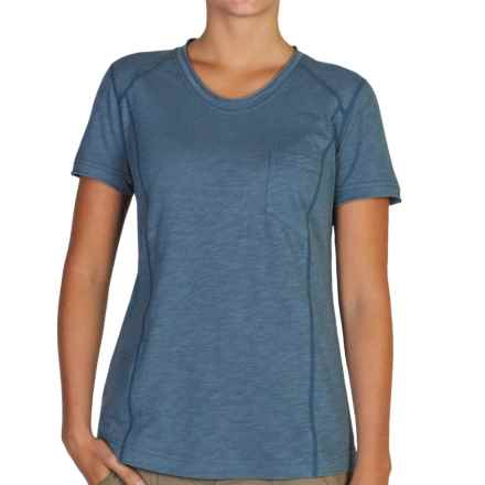 ExOfficio Techspressa Vee Shirt - UPF 50+, V-Neck, Short Sleeve (For Women) in Dusk - Closeouts