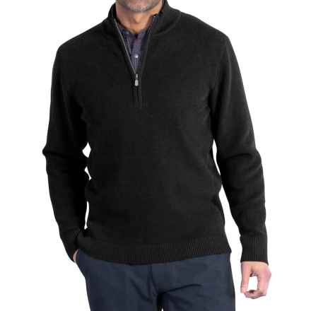 ExOfficio Teplo Sweater - Zip Neck (For Men) in Black - Closeouts