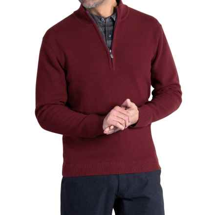 ExOfficio Teplo Sweater - Zip Neck (For Men) in Claret - Closeouts