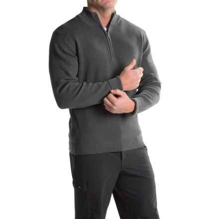 ExOfficio Teplo Sweater - Zip Neck (For Men) in Dark Pebble - Closeouts