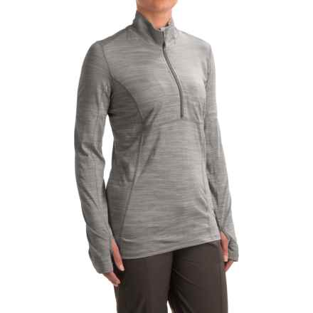 ExOfficio Terma Shirt - Zip Neck, Long Sleeve (For Women) in Grey Heather - Closeouts