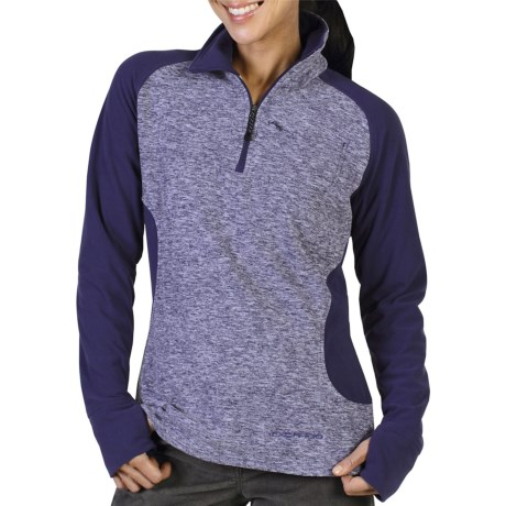 ExOfficio Tesserae Fleece Pullover - Zip Neck, Long Sleeve (For Women) in Dark Verbena