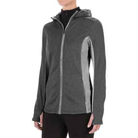 ExOfficio Thermique Hoodie - UPF 30, Full Zip (For Women) in Black - Closeouts