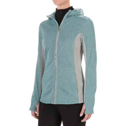 ExOfficio Thermique Hoodie - UPF 30, Full Zip (For Women) in Blue Smoke - Closeouts
