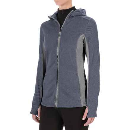 ExOfficio Thermique Hoodie - UPF 30, Full Zip (For Women) in Shadow - Closeouts