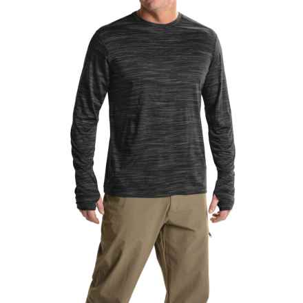 ExOfficio Thermo Crew Shirt - Long Sleeve (For Men) in Black Heather - Closeouts