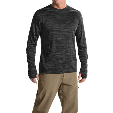 ExOfficio Thermo Crew Shirt - Long Sleeve (For Men) in Black Heather