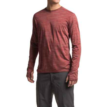 ExOfficio Thermo Crew Shirt - Long Sleeve (For Men) in Claret Heather - Closeouts
