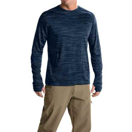 ExOfficio Thermo Crew Shirt - Long Sleeve (For Men) in Navy Heather - Closeouts