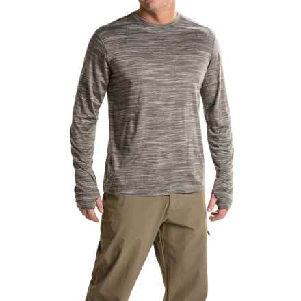 ExOfficio Thermo Crew Shirt - Long Sleeve (For Men) in Slate Heather - Closeouts