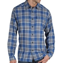ExOfficio Trailing Off Macro Plaid Shirt - Long Sleeve (For Men) in Ensign - Closeouts